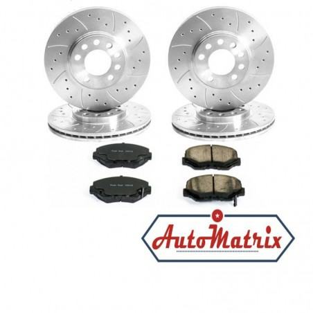 Honda S-MX Brake Discs + Pads Kit (Upgraded Drilled/Grooved)